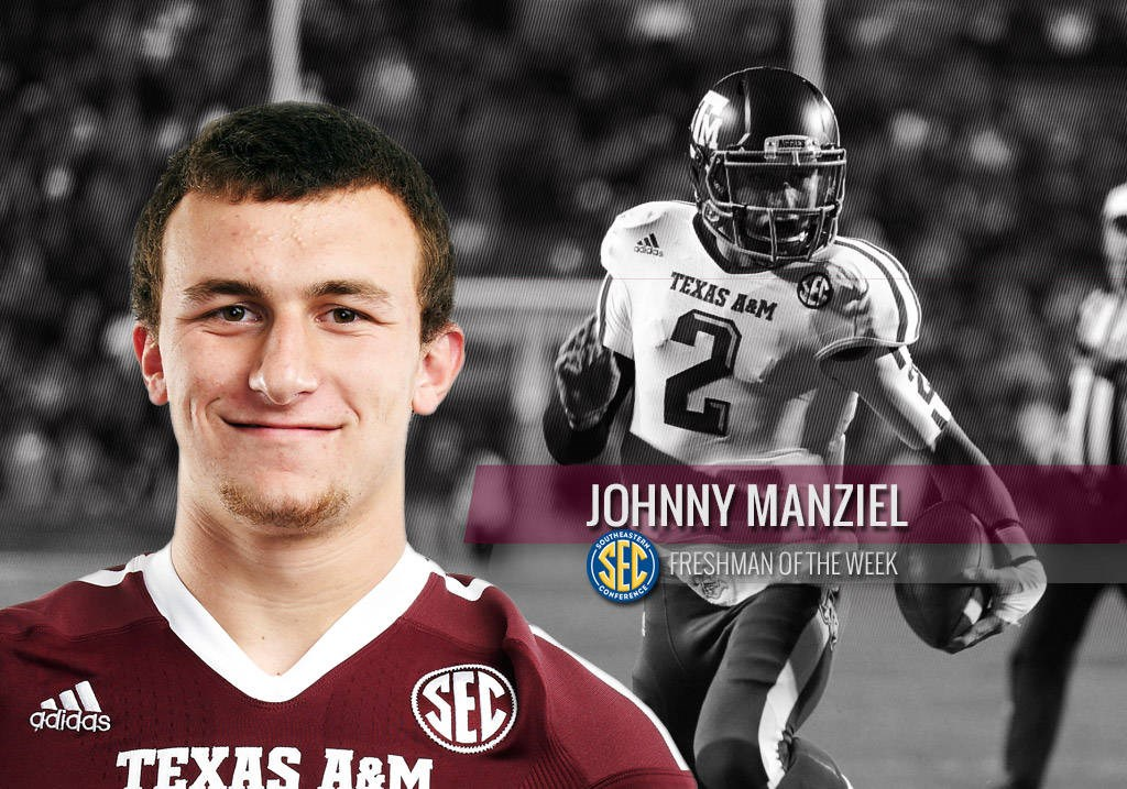 2877be5c392 Manziel Named SEC Freshman of the Week - Texas A M University ...