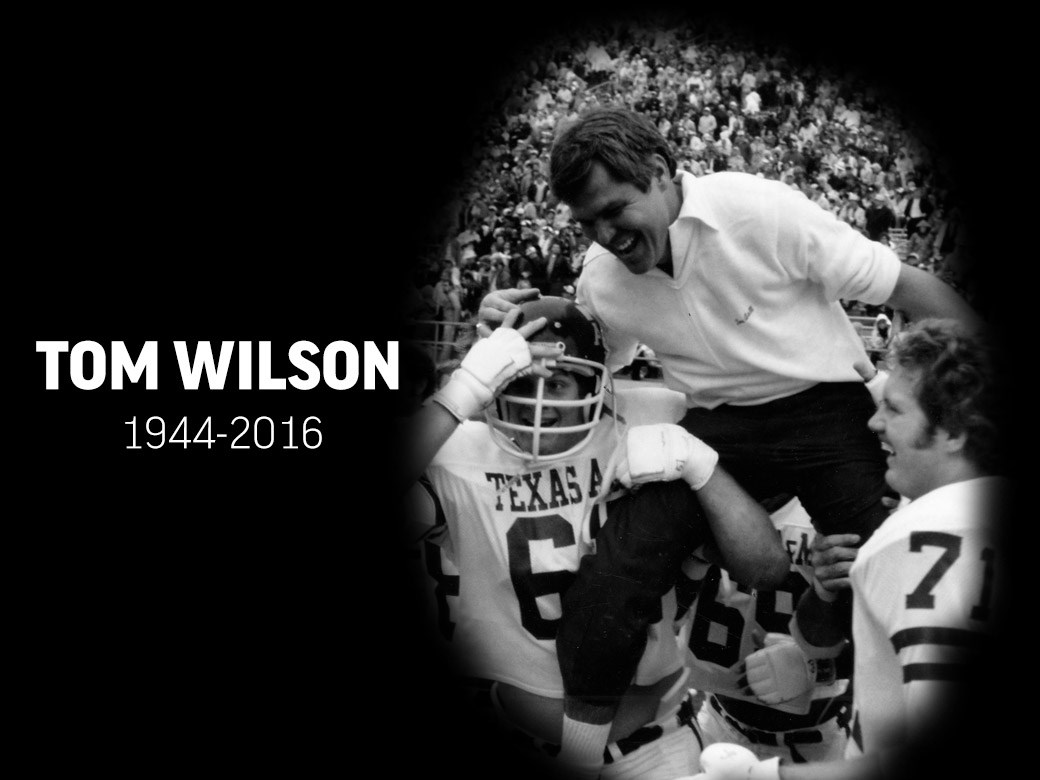 bf9d4d55b076 Former A M Head Football Coach Tom Wilson Passes Away - Texas A M ...