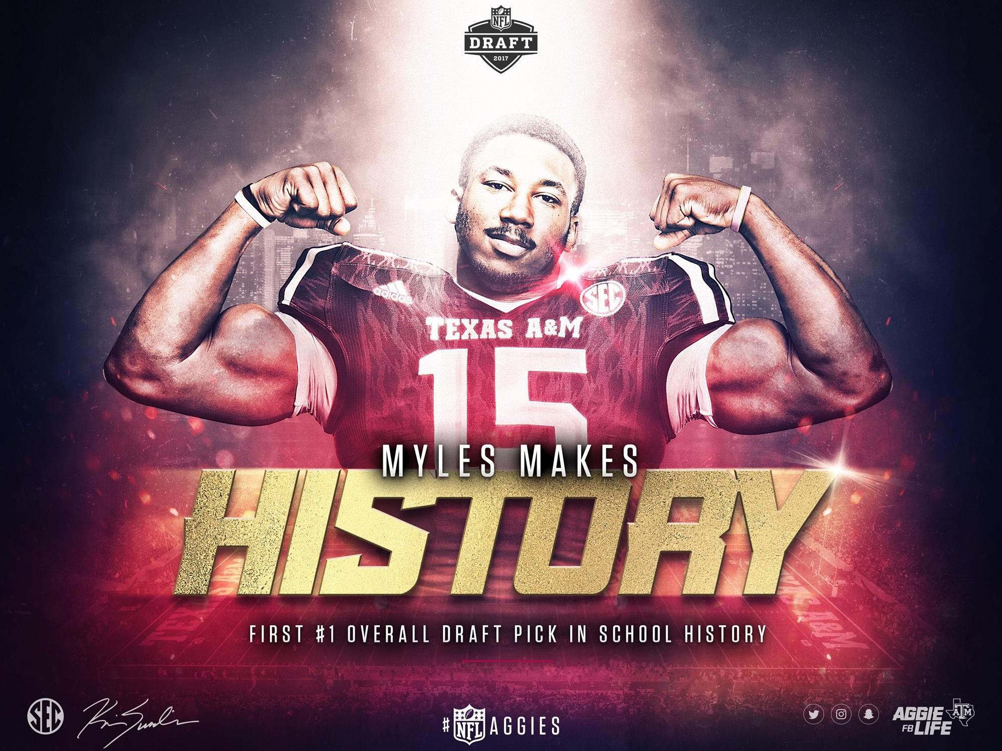 Myles Garrett Makes History NFL Draft