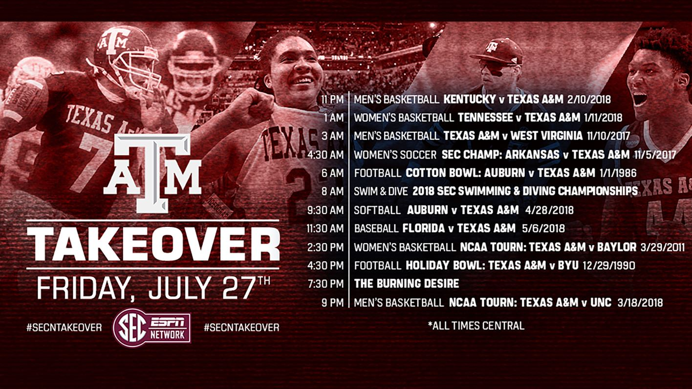 086f40328474 Texas A M Takes Over the SEC Network - Texas A M Athletics - Home of ...