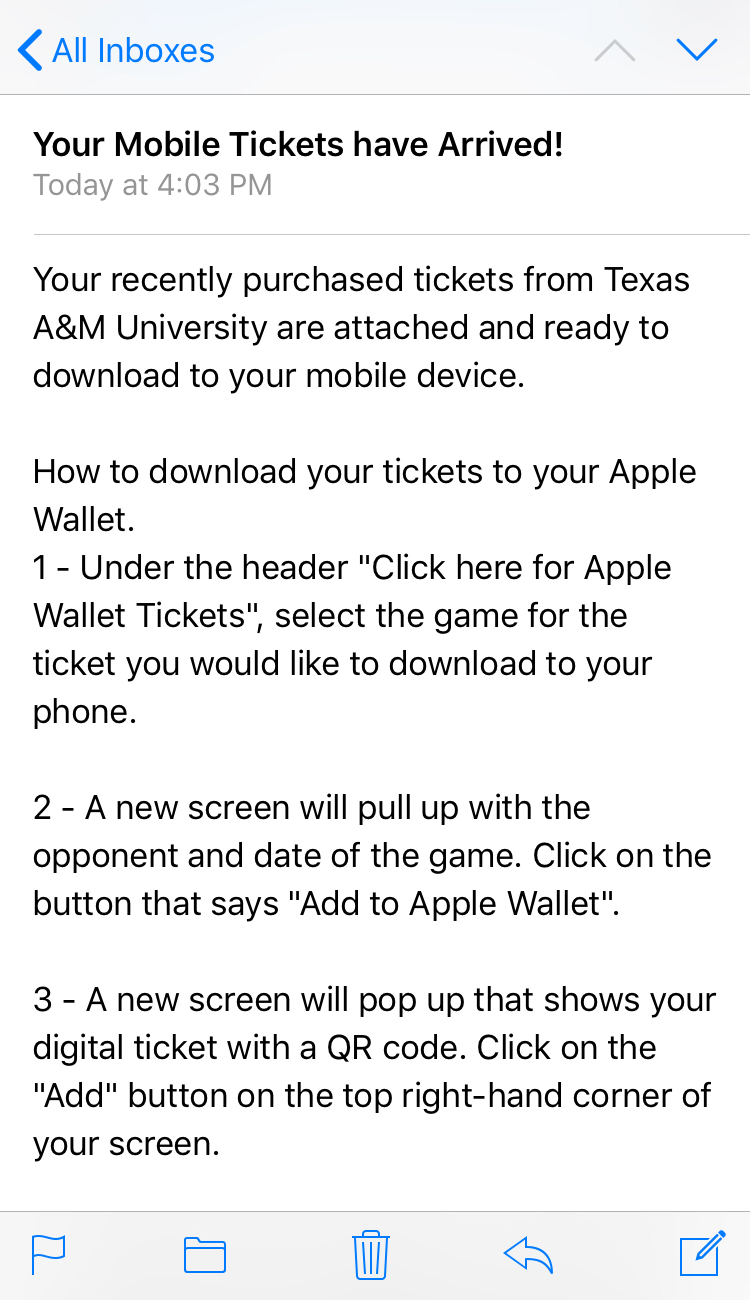 Digital Tickets - Texas A&M Athletics - Home of the 12th Man