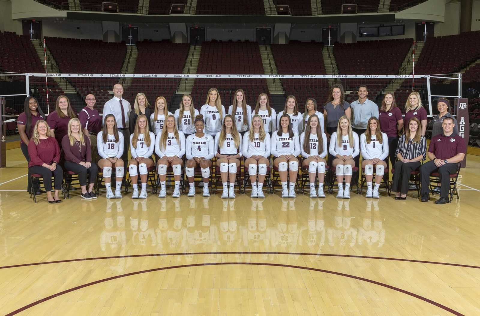 2018 Volleyball Roster Texas A M Athletics Home Of The 12th Man