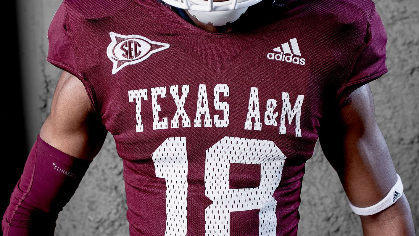 Texas A M University and adidas Unveil Throwback Alternate Uniforms ... 0ddde53ba
