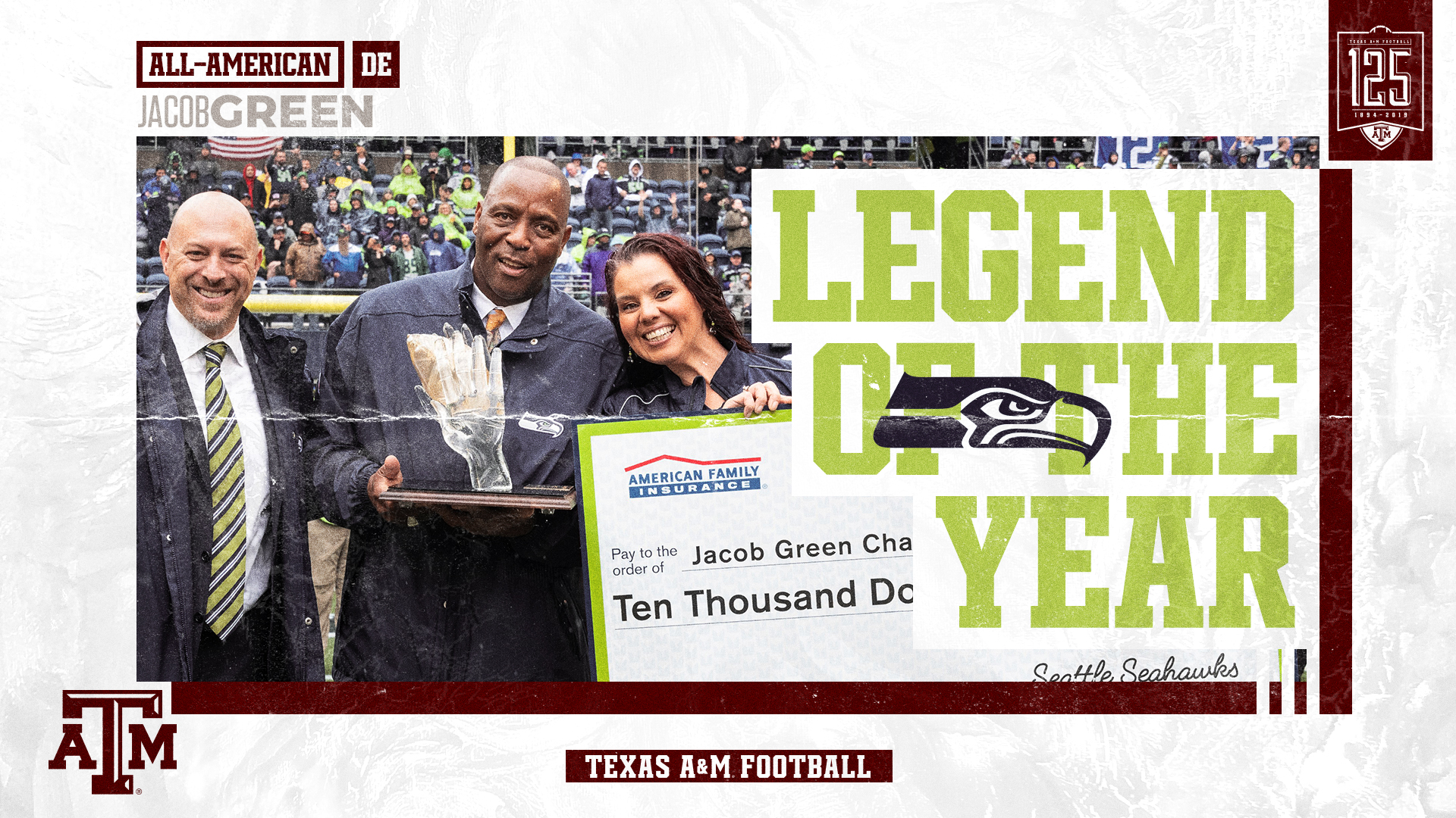 A M Hall Of Famer Jacob Green Named Seahawks Legend Of The Year